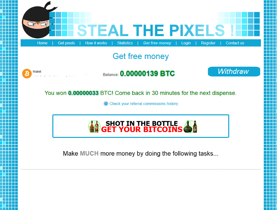Bitcoin free for click